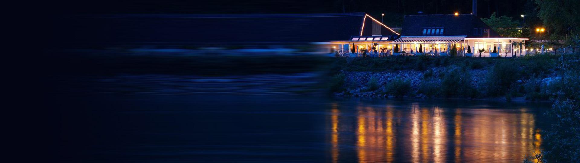 Restaurant Aareblick in der Nacht